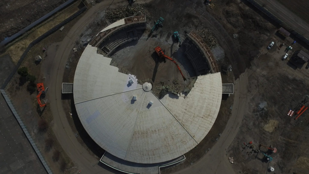 旧北海道立産業共進会場解体工事