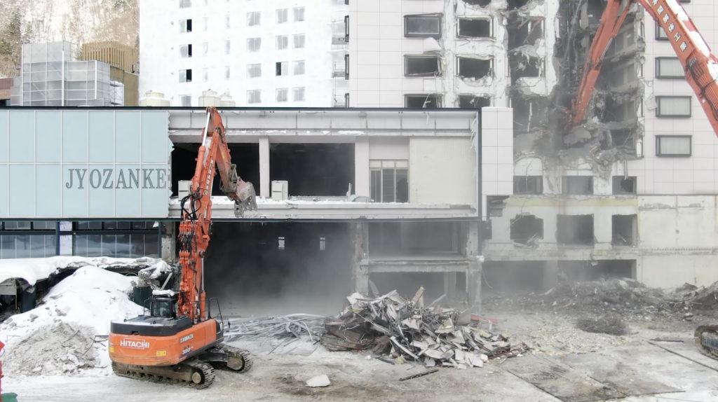 定山渓グランドホテル瑞苑 解体工事