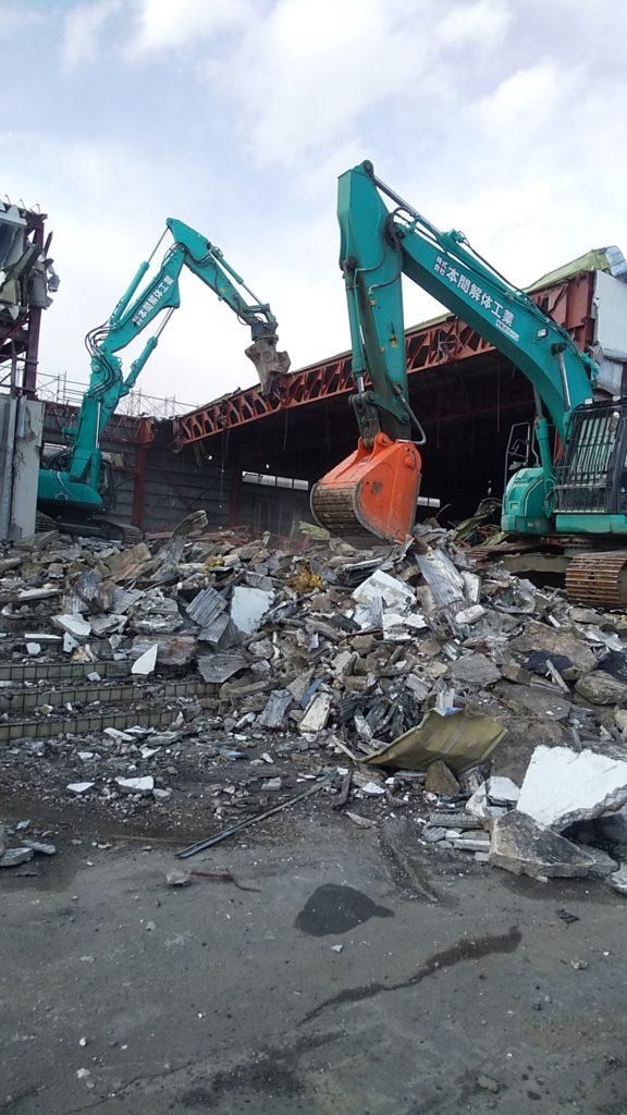 消防庁舎建設に係る関連施設解体工事