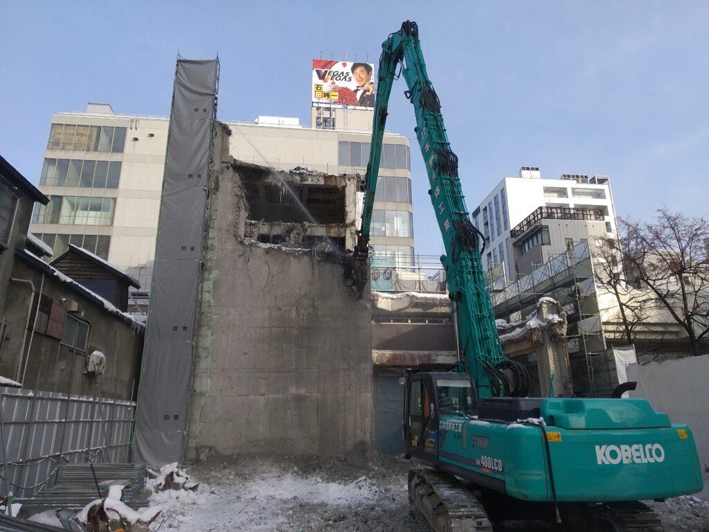 南3条西2丁目ホテル計画に伴う解体工事