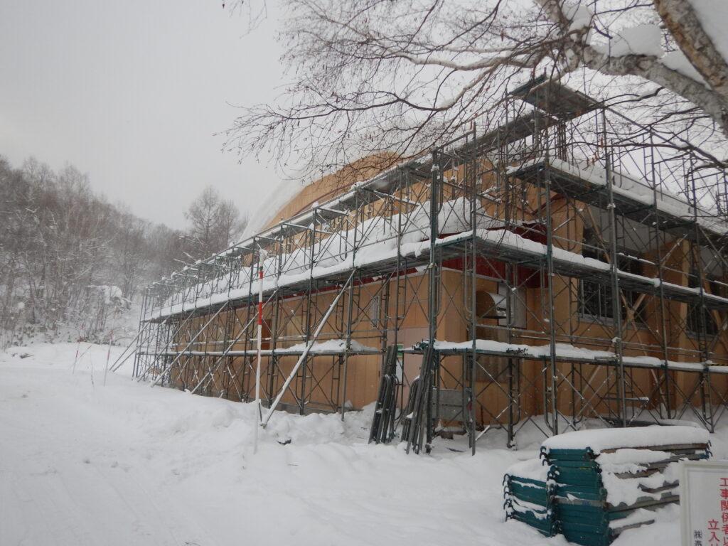 旧豊滝小学校解体工事