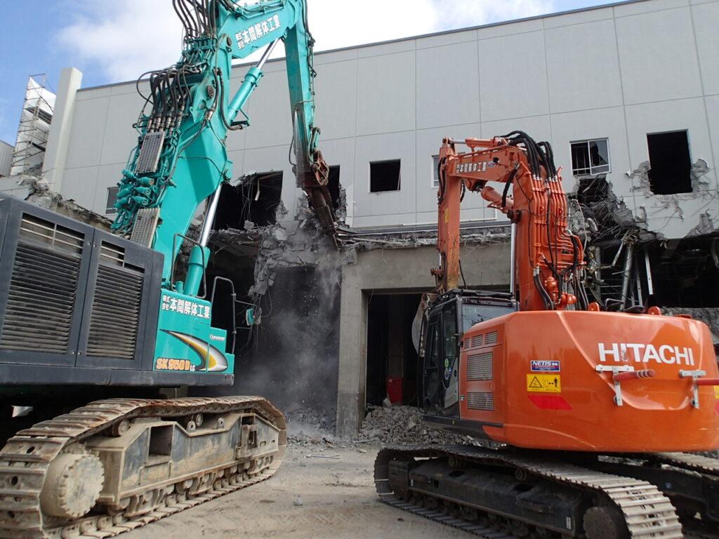 旧オカムラ札幌配送センター解体工事