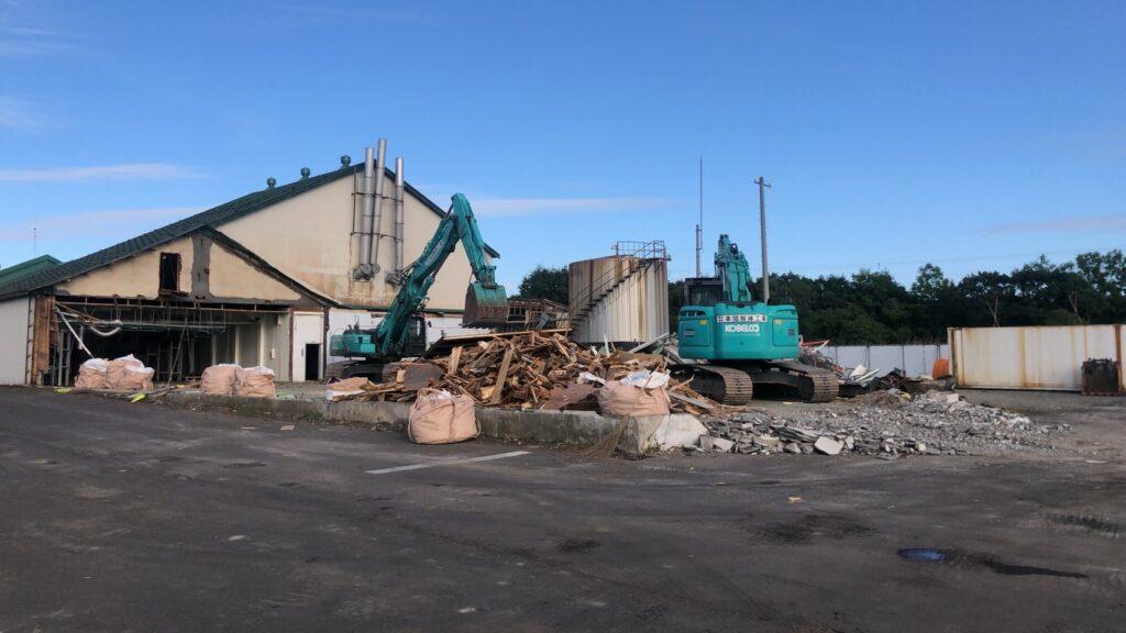 明治根室工場 解体工事
