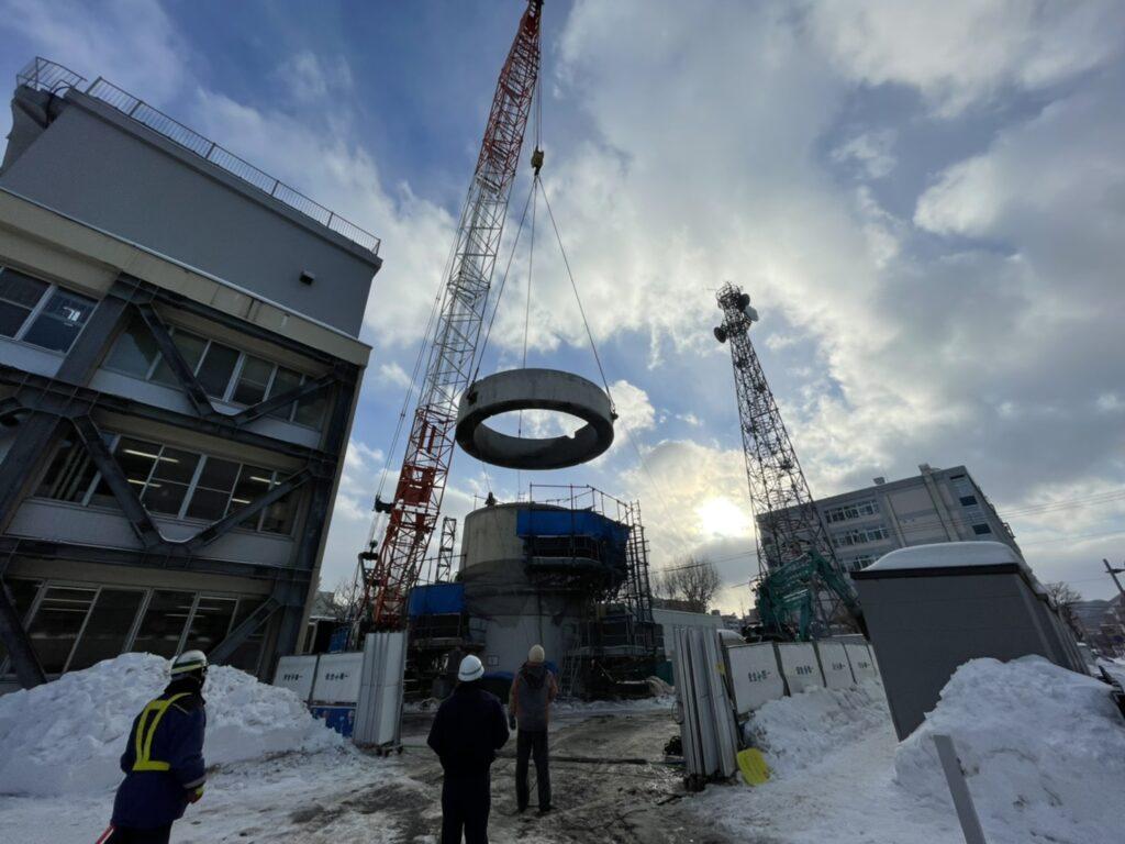札幌管区気象台高層気象観測塔解体工事