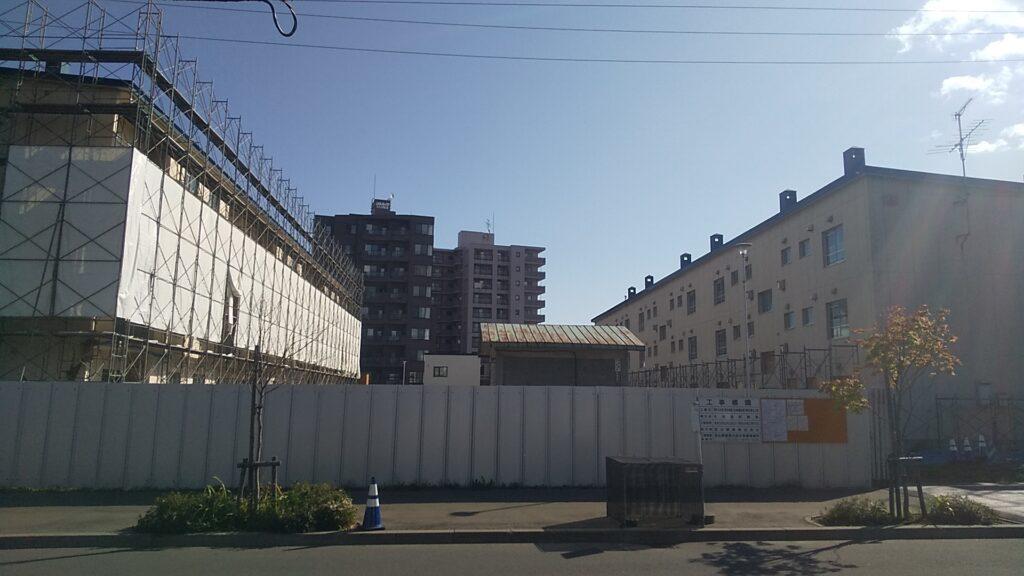 国有建物(旧美園宿舎)解体撤去工事